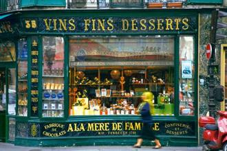 Dessert wines and candy shops, all within walking distance in Paris. Photo: Jorge Royan/Wikimedia Commons